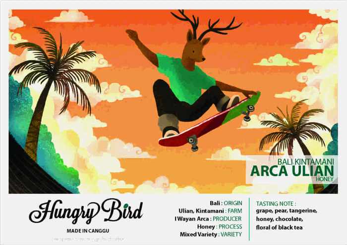 Hungry Bird Coffee Made in Canggu Bali Arca Ulian